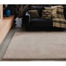 Aran luxury plain wool rugs - Large