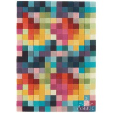 Funk multi boxes wool tuft rug - medium 120cm x 170cm