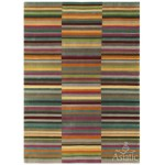 Jacob striped washed hand loom wool rug - Large 160cm x 230cm