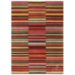 Jacob striped washed hand loom wool rug - Medium 120cm x 180cm