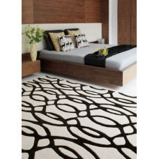 Matrix wool tufted designs - wire - medium 70cm x 240cm