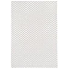 Oska check wool viscose hand loom rug - Extra Large 200cm x 300cm