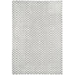 Oska check wool viscose hand loom rug - Medium 120cm x 170cm