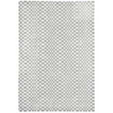 Oska check wool viscose hand loom rug - Medium 120cm x 170cm
