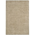 Oska check wool viscose hand loom rug - Large 160cm x 230cm