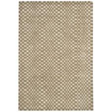 Oska check wool viscose hand loom rug - Large 160cm x 230cm
