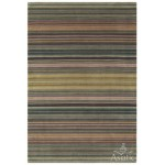 Pimlico check wool viscose hand loom rug - medium 66cm x 200cm