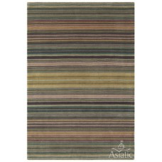 Pimlico check wool viscose hand loom rug - medium 120cm x 170cm