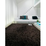 Sparkle shiny polyester shaggy rug - Medium 120cm x 180cm