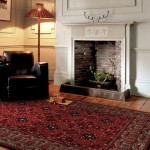 Viscount tufted wool agra design rug - large 67cm x 330cm