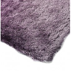 Whisper shiny fine polyester shaggy rug - large 140cm x 200cm